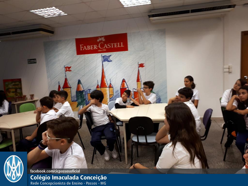 Você está vendo imagens do artigo: 6º e 8º ano do EF: visita à fábrica da Faber Castell
